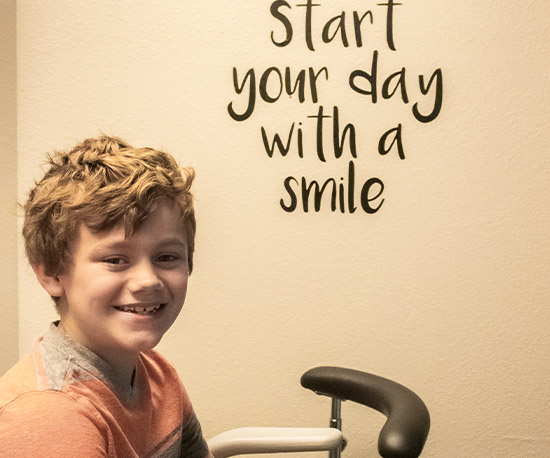 Smiling child in dental office