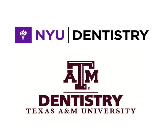 NYU Dentistry and Texas A&M School of Dentistry logos