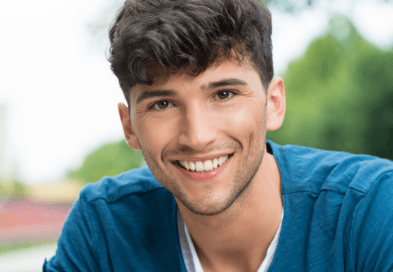 Young man sharing healthy smile